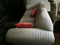 white and brown striped sofa chair Orange Park, 32073