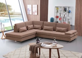 SLIDING BACK SECTIONAL SOFA BRAND NEW . FREE LOCAL DELIVERY