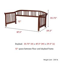 Twin size wood Daybed with mattress and bunkie board slept in twice Albany, 31701