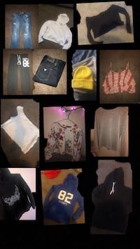 assorted-color clothes lot collage Calgary, T3E
