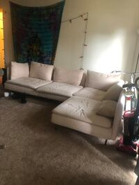 Light pink large couch Parkville, 21234
