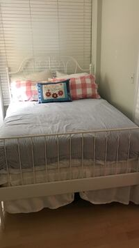 Full size bed, mattress, and box spring