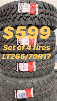 LT265/70R17 SET OF 4 MUD TIRES ON SALE WE CARRY ALL MAJOR BRANDS AND SIZE WE FINANCE NO CREDIT NEEDED  Danville, 94526