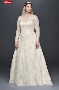 Wedding Dress vintage lace off-shoulder long sleeves Pearl, 39208