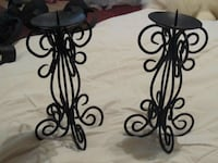two black wrought iron candlesticks Springfield, 65802