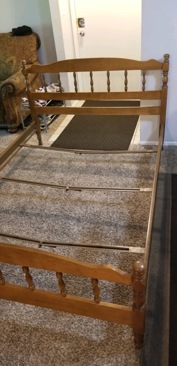 FREE! Full size bed frame with back/front board! Pick up today 6/3-8 e6b7690f-de74-491b-935d-881e9edd14b7