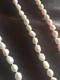Nature pearls necklace long