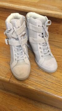 pair of white high top sneakers Great Falls, 22066