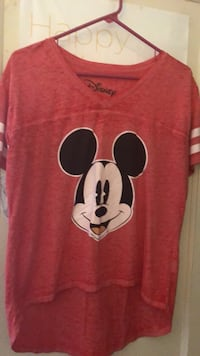 red and white Mickey Mouse print crew-neck shirt Castro Valley, 94546