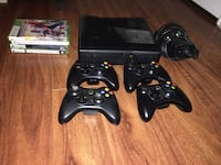 Xbox 360 + 4 controllers + 6 games