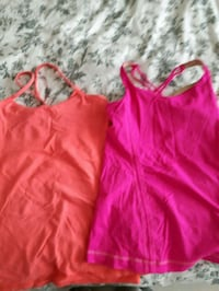 Lululemon size 6 tanks with built in sports bras Hamilton, L8H 5G9