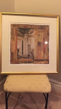 Elizabethan Tower painting with brown frame