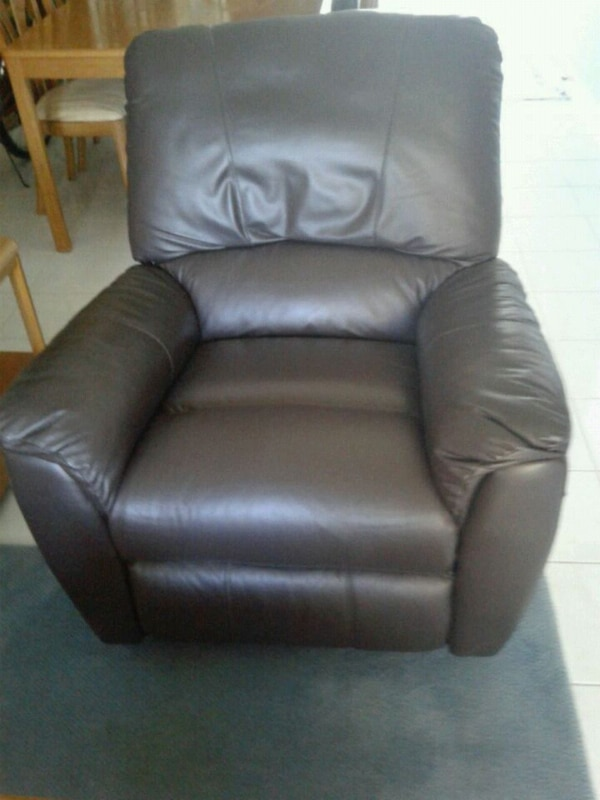 All leather Lazy Boy sofa recliner
