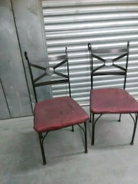 2 wrought iron chairs DIY reupholstery Hyattsville, 20784