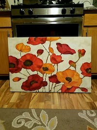 Red, Yellow & Orange Floral Painting Lawrence Township, 08648