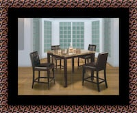 Marble tall table with 4 leather chairs Alexandria, 22306