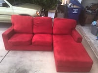 red fabric 3-seat sofa Yuma, 85364