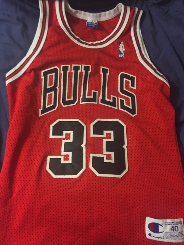 finest selection 0acfa 6c767 Scottie pippen 33 chicago bulls basketball nba authentic champion jersey  size 40
