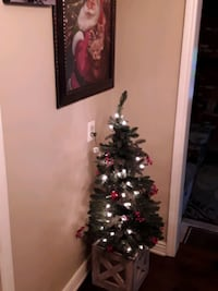 Christmas Pre-Lit 4 ft. Hall Entry Tree in Wooden Box