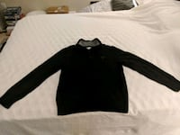 American Eagle Men's Black Zip-up Sweater Ashburn