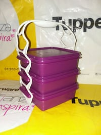 purple and white plastic food containers 2261 mi