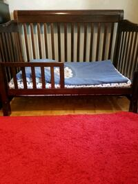 3-In-1 Convertible Crib In Rich Cherry Color