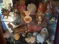 assorted figurines table decor