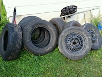4 truck tires no rims. 4 mounted car winter tires  Saint Catharines