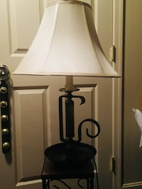 2 Black wrought iron table lamps West Chester, 19382