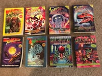 Lot of 8 Jonathan Rand Michigan and American chillers kids books