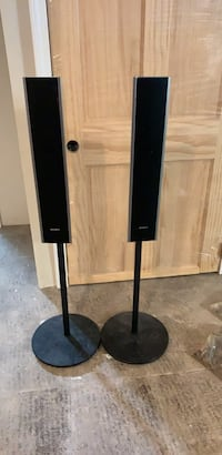 sony speakers on stand