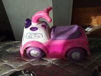 pink and purple ride-on toy
