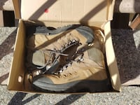 pair of brown leather work boots Culver City
