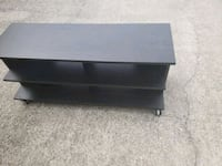 black wooden flat screen TV stand Stone Mountain, 30087