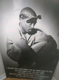 Tupac picture frame