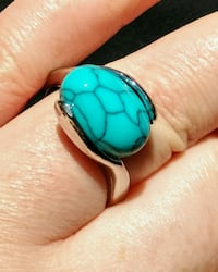 NewTurquoise Silver Plated Ring Calgary, T3C 2A4