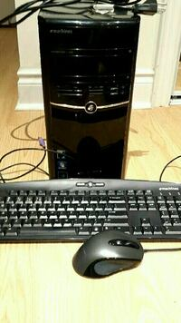 Computer tower,keyboard, and mouse