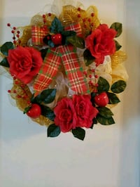 red, green, and yellow floral wreath Baton Rouge, 70816