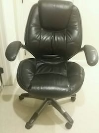 Real leather home office chair