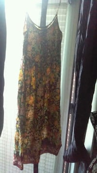 women's black and red floral sleeveless dress Calgary