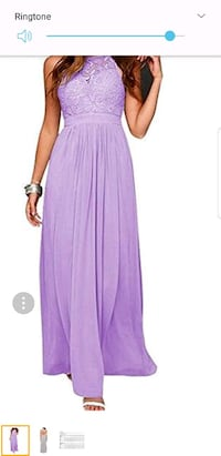Lavender dress size 18 with lace
