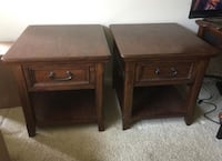 Two solid dark wood night stands Lake Forest