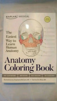 Anatomy Coloring Book-Great learning tool for anatomy and it's a fun!  Martinsburg, 25405