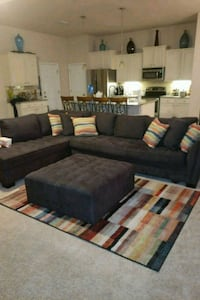 Tufted Dark Grey Couch with matching decor Pace, 32571