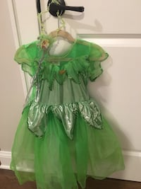 Disney Tinker bell costume with wand size 4/5 Toms River, 08757