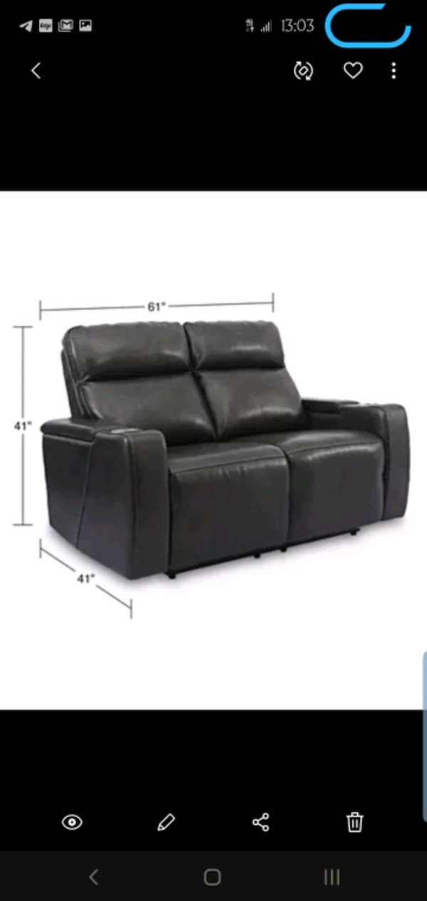 Swell Macys Real Leather Power Recliner Loveseat W Usb Lamtechconsult Wood Chair Design Ideas Lamtechconsultcom