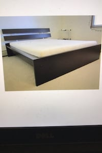 Deliver Queen IKEA Black heavy Wood Frame Bed