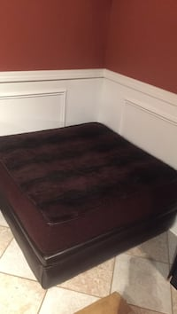 Large ottoman with fur top