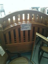 brown wooden bed headboard and footboard Jacksonville, 28546