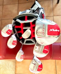 White and red golf bag with golf club set Albuquerque, 87109